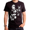David Bowie Acoustic Guitar Concert Photo Men's BLACK Ziggy Stardust T-Shirt-Cyberteez