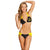 Batgirl Batman Women's Twist Halter Top/Loop Hipster Bottoms Bikini