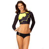 Batgirl Batman Women's Rash Guard Surf Top-Cyberteez