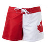 Canada Canadian Flag Women's Ladies Board Shorts Beach Surf-Cyberteez
