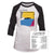 Genesis Abacab 1981 World Tour Raglan 3/4 Sleeve Jersey T-Shirt