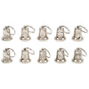 Silver Tone 10pc Good Luck Ride Gremlin Bells Motorcycle Biker Mount w/ Hangers-Cyberteez