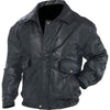 Biker Bomber Jacket Genuine Leather Motorcycle Flight Coat Lined-Cyberteez