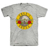 Guns N Roses Bullet Seal Logo HEATHER GRAY T-Shirt-Cyberteez