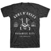 Guns N Roses Paradise City Skull Charcoal Gray T-Shirt-Cyberteez