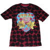 Nirvana Heart Shaped Box All Over Front & Back Print T-Shirt-Cyberteez