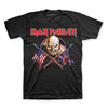 Iron Maiden Crossed Flags USA UK T-Shirt-Cyberteez