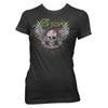 Poison Nothin' But A Good Time Skull Wings Women's T-Shirt-Cyberteez