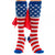 USA American Flag Patriotic Stars & Stripes Knee High Socks w/ Cape
