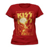 Kiss Fire Breathing Gene Simmons Women's T-Shirt-Cyberteez