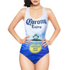 Corona Beer Logo Women's One Piece Swimsuit-Cyberteez
