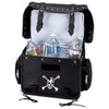 Biker Cooler Bag Beer Trunk Motorcycle Skull Medallion w/ Carry Strap Pockets-Cyberteez