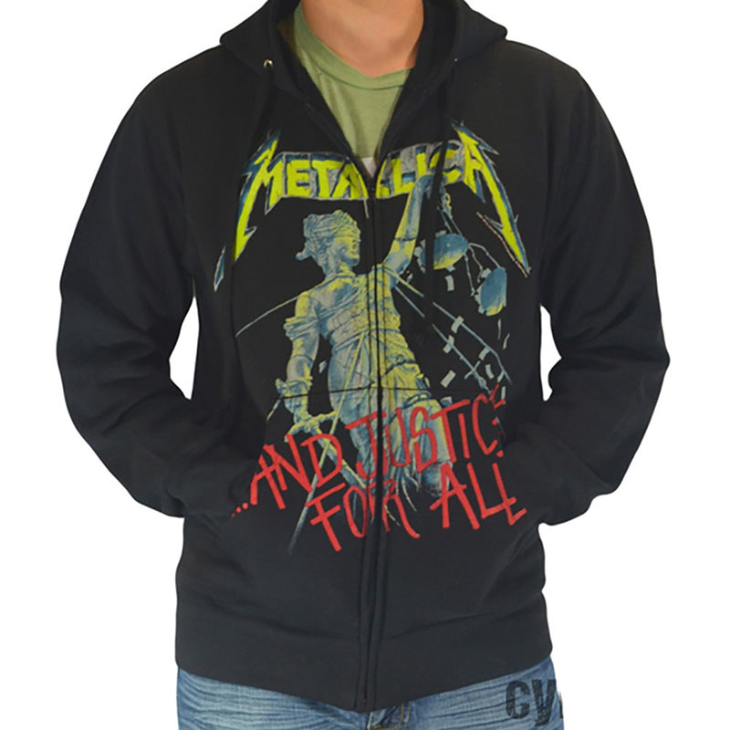e169210a Metallica And Justice For All Zip Hoody Sweatshirt - Cyberteez