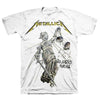 Metallica And Justice For All White T-Shirt-Cyberteez