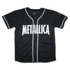 Metallica '81 Flaming Sun Logo Men's Embroidered Baseball Jersey-Cyberteez