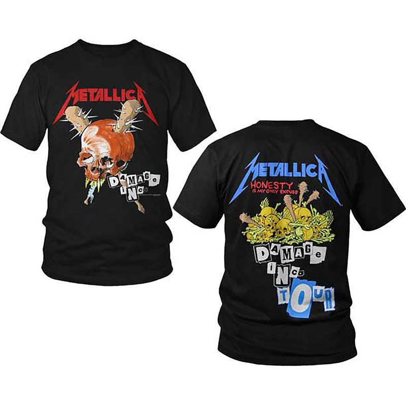 f24a03b1 Metallica Damage Inc Skull Tour 1986 T-Shirt - Cyberteez