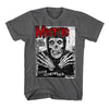 Misfits All Ages Fiend Skull Gray Flyer Distressed T-Shirt-Cyberteez