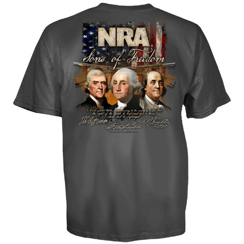 NRA T-Shirt Grit USA Flag Logo Freedom 1776 Officially Licensed S-3XL