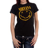 Nirvana Smiley Face Women's T-Shirt-Cyberteez