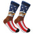 USA American Flag Bald Eagle Patriotic Stars & Stripes Knee High Socks