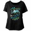 Poison Open Up And Say Ahh! '88 Tour Women's Wide Scoop Dolman T-Shirt-Cyberteez