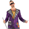 Big Pimpin Pimp Suit Men's Longsleeve Allover Print Costume T-Shirt-Cyberteez