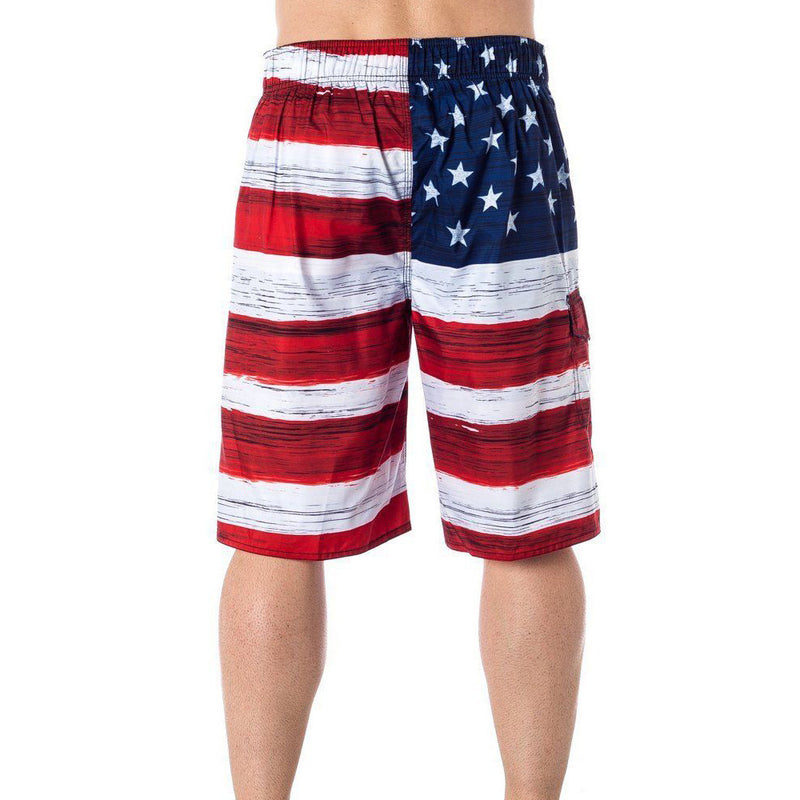 9d7709bab0 USA American Flag Men's Old Glory Board Shorts Patriotic Swim Trunks (S-2XL)
