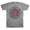 Red Hot Chili Peppers Asterisk Circle Gray T-Shirt-Cyberteez
