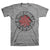 Red Hot Chili Peppers Asterisk Circle Gray T-Shirt