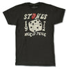 Rolling Stones Tour 1972 w/ Dates Dice Tongue Logo Distressed T-Shirt-Cyberteez