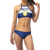 Corona Beer Logo Women's Sport Bikini Halter Top Swimsuit-Cyberteez
