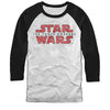 Star Wars Force Awakens Logo Baseball Jersey Longsleeve T-Shirt-Cyberteez