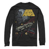 Star Wars Millennium Falcon Escapes Death Star Longsleeve T-Shirt-Cyberteez