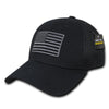 RapDom USA American Flag Hat Air Mesh Black Tactical Operator Flex Fit Embroidered Cap-Cyberteez
