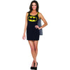 Batgirl Superhero Women's Tank Dress w/Cape Costume-Cyberteez