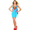 Supergirl Superhero Women's Tank Dress w/Cape Costume-Cyberteez