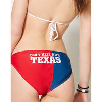 Texas Flag Lone Star State Don't Mess With Women's Two Piece String Bikini-Cyberteez