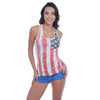 USA American Flag Women's Distressed Patriotic Stars & Stripes Racer Back Tank Top-Cyberteez
