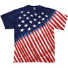 USA American Flag Patriotic Stars And Stripes Tie-Dye T-Shirt-Cyberteez