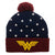 Wonder Woman Dawn Of Justice League Beanie Knit Cap Hat Navy/Red/Gold