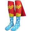 Wonder Woman Logo Knee High Socks With Capes-Cyberteez