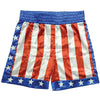 Rocky Apollo Creed USA Flag Boxing Trunks Costume Shorts-Cyberteez