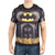 Batman Sublimated Men's Costume T-Shirt With Cape