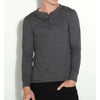 Bella + Canvas 3150 Men's Henley Longsleeve Long Sleeve Cotton Jersey T-Shirt-Cyberteez