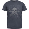 Lynyrd Skynyrd Biker Patch Skull Wings T-Shirt-Cyberteez