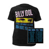 Billy Idol Rebel Yell 1984 Tour T-Shirt-Cyberteez
