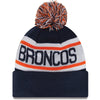 Denver Broncos NFL New Era Biggest Fan Redux Pom Beanie Knit Hat-Cyberteez