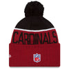 Arizona Cardinals NFL New Era On Field Sport Knit 2015-16 Pom Beanie Knit Hat Cap-Cyberteez