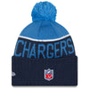 San Diego Chargers NFL New Era On Field Sport Knit 2015-16 Pom Beanie Knit Hat Cap-Cyberteez