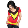Dark Phoenix Jean Grey Marvel Comics Womens V-Neck Costume T-Shirt-Cyberteez